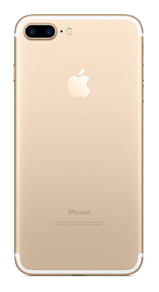 Gold iPhone 7 Plus - Back View
